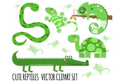 Reptiles Clipart, Crocodile Clipart, Snake, Lizard, Tortoise