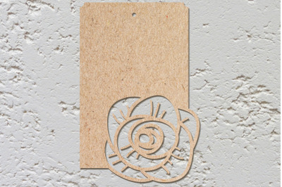 Card with template roses