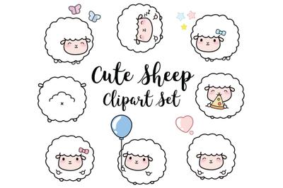 Sheep Clipart, Sheep Clip art, Lambs clipart, farm clipart