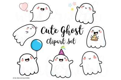 ghost clipart, cute ghost clip art, halloween clipart