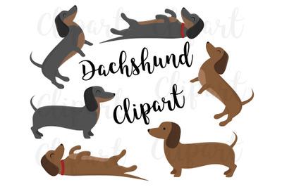 Dachshund Clipart, Dachshund Clip art, Dog Clipart, Puppy Clipart,