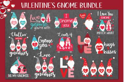 Valentines Gnome Bundle Svg