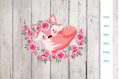 Floral Foxes Graphics and Illustration Clipart 7