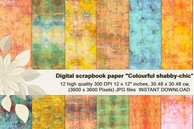 Vintage shabby Grunge textures, Distressed Scrapbook Paper
