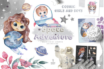 Cosmic Adventure Watercolor Set