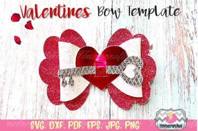 Valentines Heart Key, Heart Hair bow, Valentine's Day Template