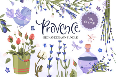 Provence. Big Hand drawn Bundle.
