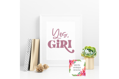 Yes Girl Spring Easter SVG DXF EPS PNG Cut File  Cricut  Silhouette