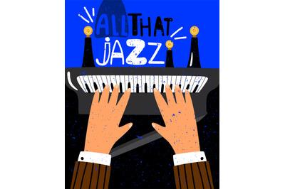 Jazz concept poster