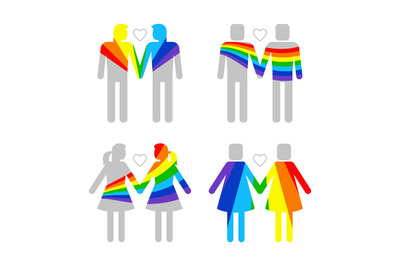 LGBT gay and lesbians, homosexuals people couples