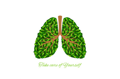Green leaves lungs