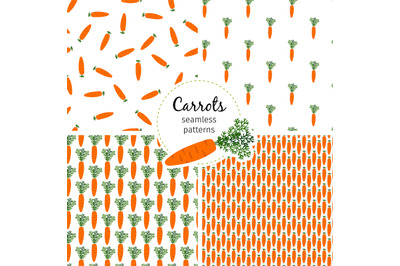 Carrot seamless pattern, healthy vegetable background vector