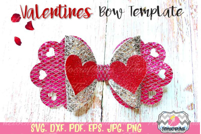 Valentines Hearts Bow, Love bow, Valentine's Day Template