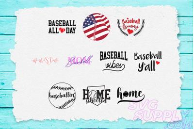 Baseball Quotes T-Shirt Design Bundle