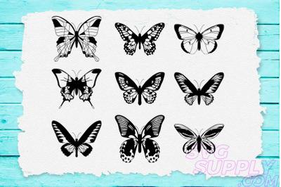 Butterfly Lineart SVG Bundle