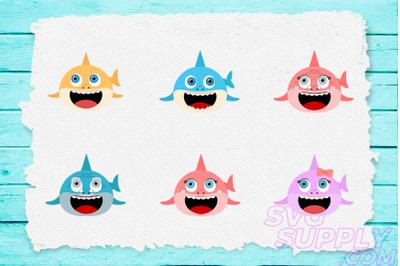 Shark Family T-shirt Design Bundle