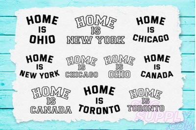 Home is America T-shirt Design Bundle