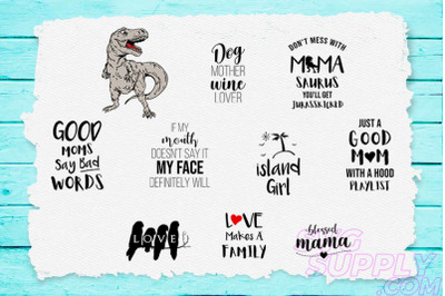 Mamasaurus SVG Bundle
