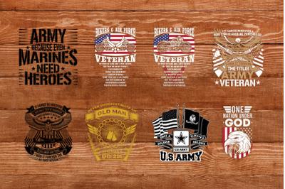 Veteran T-shirt Design Bundle