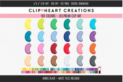 Jellybean Clipart - 100 Colours