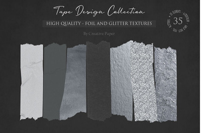 Black Silver Foil and Glitter & Watercolor Textures Collection (JPG-P