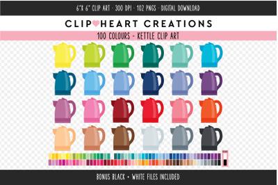 Kettle Clipart - 100 Colours