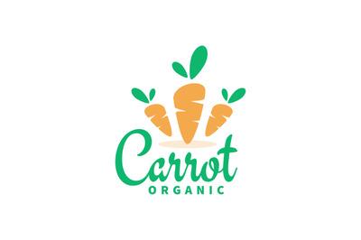 Triple Orange carrots logo, symbol vector template