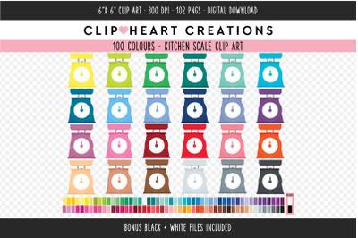 Kitchen Scale Clipart - 100 Colours