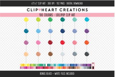Lollipop Clipart - 100 Colours