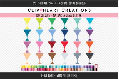 Margarita Glass Clipart - 100 Colours