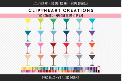 Martini Glass Clipart - 100 Colours