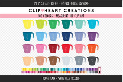 Measuring Jug Clipart - 100 Colours