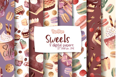 Sweets Digital Papers