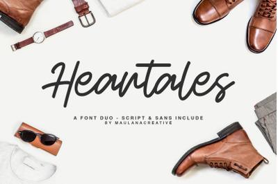Heartales - Font Duo Script Sans