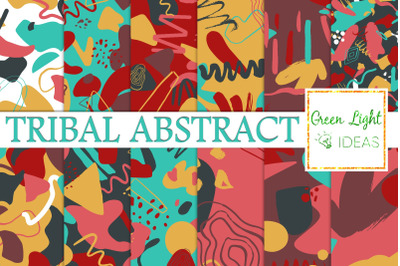 Tribal Abstract Digital Papers, Bold Trendy Geometric Patterns