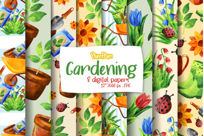Gardening Digital Papers