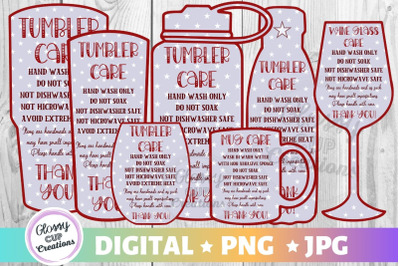 Tumbler Care Cards - Stars Edition - PNG JPG