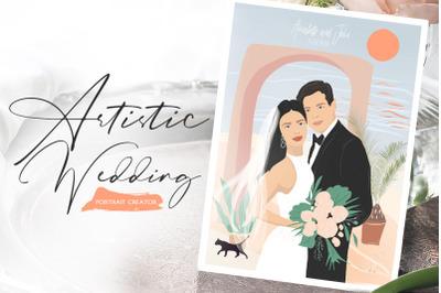 Artistic Wedding Portrait Creator