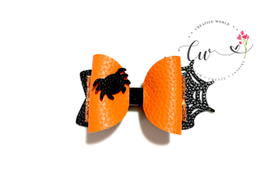 Halloween Hair Bow Digital Template | Spider Web Hair Bow Template