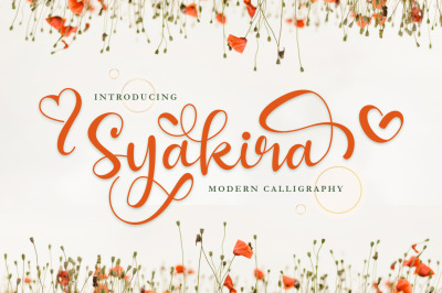 Syakira Beautiful Modern Calligraphy