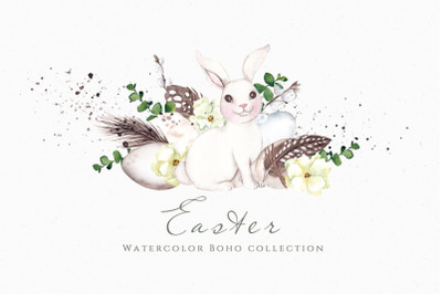Easter. Watercolor Boho collection