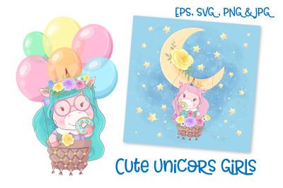 Cute Unicorns Girls