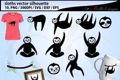 Sloth silhouette svg
