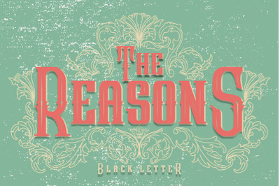 The Reasons Black Letter + Bonus