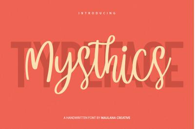 Mysthics - Font Duo Script Sans Typeface