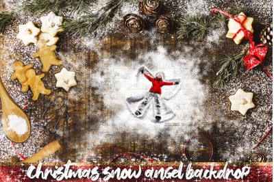 Snow Angel and Baking flat backdrop photoshop overlay
