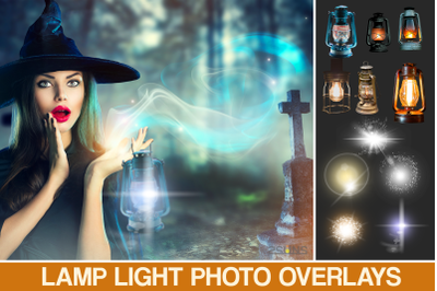 30 Fairy lamp overlay, Photoshop overlay, lamp clipart, lantern