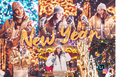 5 HAPPY NEW YEAR Mobile Lightroom Presets, Blogger, instagram
