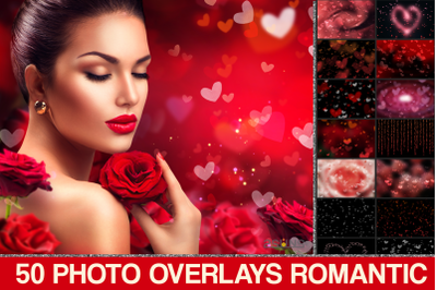 Heart Bokeh, Valentines Bokeh, Romantic overlays, Photoshop overlays