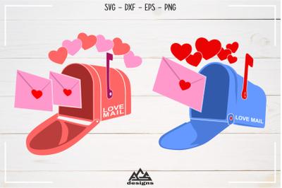 Valentine MAIL BOX Love Heart Svg Design